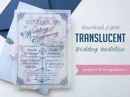 diy translucent wedding invitation with vintage charm Wedding Invitation Affiliate Program Wedding Invitation Affiliate Program #43 Printable Wedding Programs Yourself
