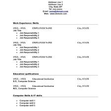 Blank Resume Sample Blank Resume Blank Resume Template Tristarhomecareinc Blank 49