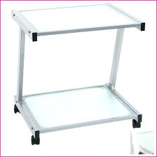 large laser printer stand black glass l shaped metal cart home bar size of accessories large printer stand