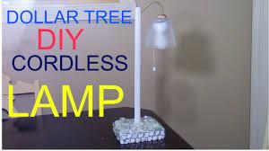 dollar tree diy cordless lamp