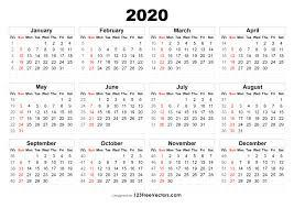 Week Number Calendar 2020 Calendar With Week Numbers