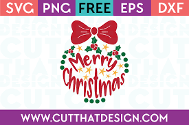 Print the template of your choice. Free Svg Files Merry Christmas Ornament Design Cut That Design
