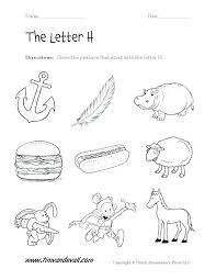 Letter H Printable Worksheets Letter H Worksheets For Kindergarten ...