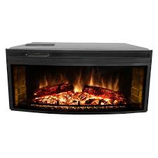 muskoka 43 in curved electric fireplace insert mfb42wsc the home depot