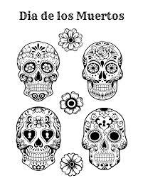 Small Picture Free Printable Dia De Los Muertos Coloring Page Dia De Los