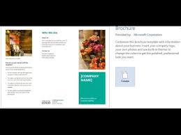 How To Make Your Own Brochure On Microsoft Word How To Create A Brochures Using Word 2013 2016