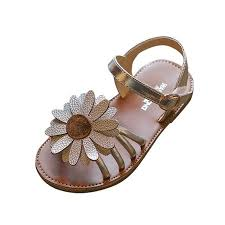 Outtop Toddler Kids Baby Girls Sandals Flower Roman Sandals Princess Shoes