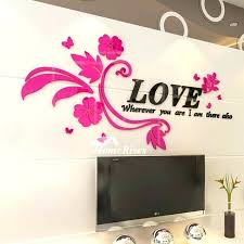 wall decals letter fl wall decals flower wall decals letter pink purple acrylic living room decorative wall decals letter