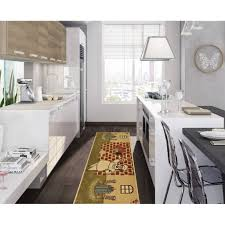 Rubber Backed Kitchen Rugs Kitchen Beige Chef Design For Kitchen Area Rugs With Non Skid