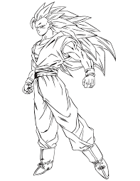 Small Picture Dragon ball z coloring pages goku super saiyan 3 form ColoringStar
