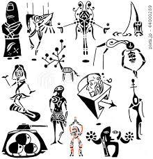 影絵 謎の生き物 トライバル 人形 神様のイラスト素材 44000289 Pixta