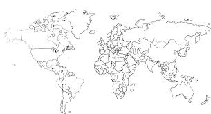 Map Of The World Coloring Page Coloring Page Map Of The World World