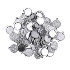 bolehdeals 100pcs blank bezel pendants blanks base photo cameo cabochon settings for jewelry making 12mm