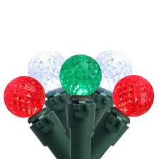 Led Red Green White Christmas Lights Brite Star 50 Red And Pure White Led G12 Berry Christmas Lights 15 75 Ft Green Wire