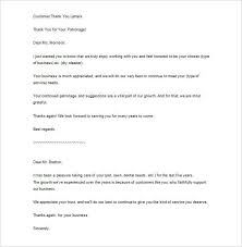 Thank You For Your Business Letter Sample Cover Letter Format And