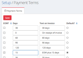 Payment Terms Sliq Invoicing Online Help
