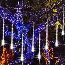 Led Icicle Drip Lights In Motion 8 Lights Trippix Meteor Shower 11 Inch Tubes 112 Leds