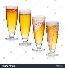 Lucky Lager Light Set Glass Light Beer Foam Lager Stock Photo Edit Now 635171471