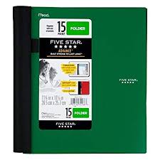 15 Pocket Folder Size 10 12 11 25 Sheet Capacity 300 And Pen Highlighter Combo Green