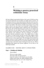 writing a poetry practical criticism essay springer inside