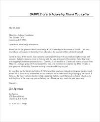 Scholarship Thank You Letter Interview Follow Up Of Intent For ...