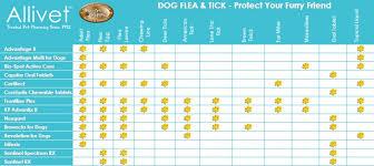 Flea Tick Prevention Comparison Chart Dog Flea And Tick Product Comparison Chart Allivet Pet