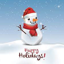 Holidays Snowman Happy Holidays Snowman Greeting Card Vector Free Download