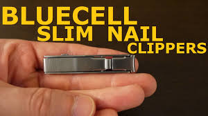 bluecell snless steel slim fingernail clippers with nail file