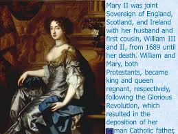 「Protestant Queen Mary and her husband King William III.」の画像検索結果