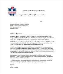 Letter Of Recommendation Student Example Of Letters Recommendation For Student 9 Reinadela Selva
