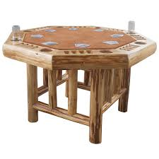 24 Inch Round Table amazon rush creek creations rustic log 8 player octagon 1006 by xevi.us