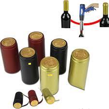 100 Pcs Shrink Seal Capsule PVC Thermal Cap Hood Wine Making Winery  Decoration