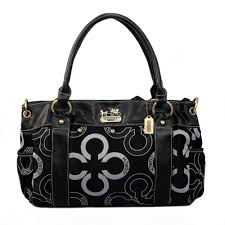 ... Coach Waverly Big C Logo Large Black Satchels 20857