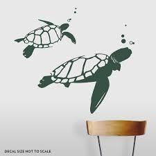 swimming turtles wall decal sea