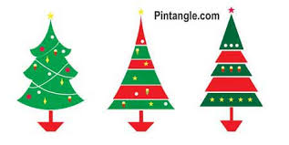 Free Christmas Tree Template Free Christmas Tree Pattern Coloured Pintangle