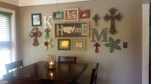 dining area gallery wall colorful country decor crosses wall art collage wall  on wall art picture collage with dining area gallery wall colorful country decor crosses wall art