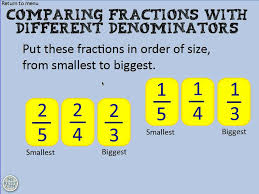 Comparing fractions with different denominators - YouTube