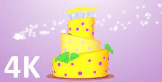 3d Birthday Cake Rotate Animation 4k By Nicartoon Videohive