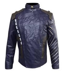 avengers infinity war bucky barnes winter solr white wolf faux leather jacket jackets junction