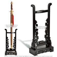 Sword Display Stands Size Upright Deluxe Chinese Sword Stand Classic Wooden Display 8