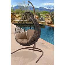 Hanover Egg Swing04 Outdoor Wicker Rattan Hanging Egg Chair Swing In  Addition To Beautiful Outdoor Swinging
