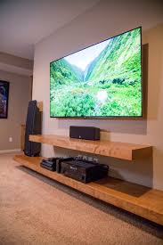 Tv Entertainment Stand Floating Shelves Entertainment Center Built In Cabinets