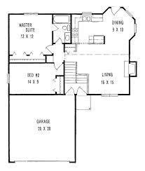 Small House Plans With Garage 1000 1000 Ideas About 2 Bedroom Floor Plans With Garage