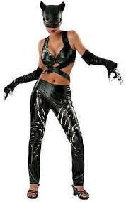 Halle berry catwoman batman kingsman: Catwoman Movie Batman Halle Berry Black Cat Halloween Deluxe Sexy Adult Costume Ebay