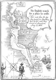 captain christopher newport historic jamestowne part of colonial Map Of Voyage From England To Jamestown *exploration of james river map *voyage to jamestown image England to Jamestown VA Map