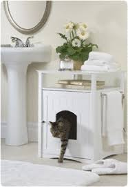 Decorative Cat Litter Box Cat Washroom Litter Box Cover Merry Products Litter Box Cabinet 15