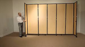 Sliding Wall Dividers Versare Straightwall Sliding Room Divider In Wood Grain Laminate