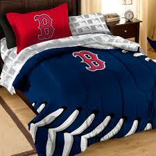mlb boston red sox bedding striped baseball comforter sheets