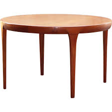 vintage scandinavian round dining table 1960s