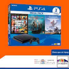 Bộ Máy Chơi Game Playstation 4 PS4 Slim 1TB Mega Pack 2 (Chưa qua sử dụng)